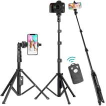 "Selfie Stick Tripod, Eocean 51"" Extendable Selfie Stick Stand, Cellphone/Camera Tripod, Compatible with iPhone 11 Max Pro/Xr/Xs Max/X/8/8Plus/7/Galaxy Note 9/S9/Huawei/Google/Xiaomi/Android(Upgrade)"