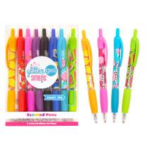 Scentco Glitter Gel Smens - Gourmet Scented Pens, Colored Gel Ink, Medium Point, 8 Count