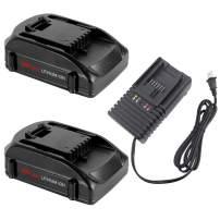 2 Packs 3.0Ah WA3525 Battery and WA3868 20 Volt Quick Charger Compatible with Worx 20V Lithium Battery WA3525 WA3520 WA3578 WA3575 WA3512