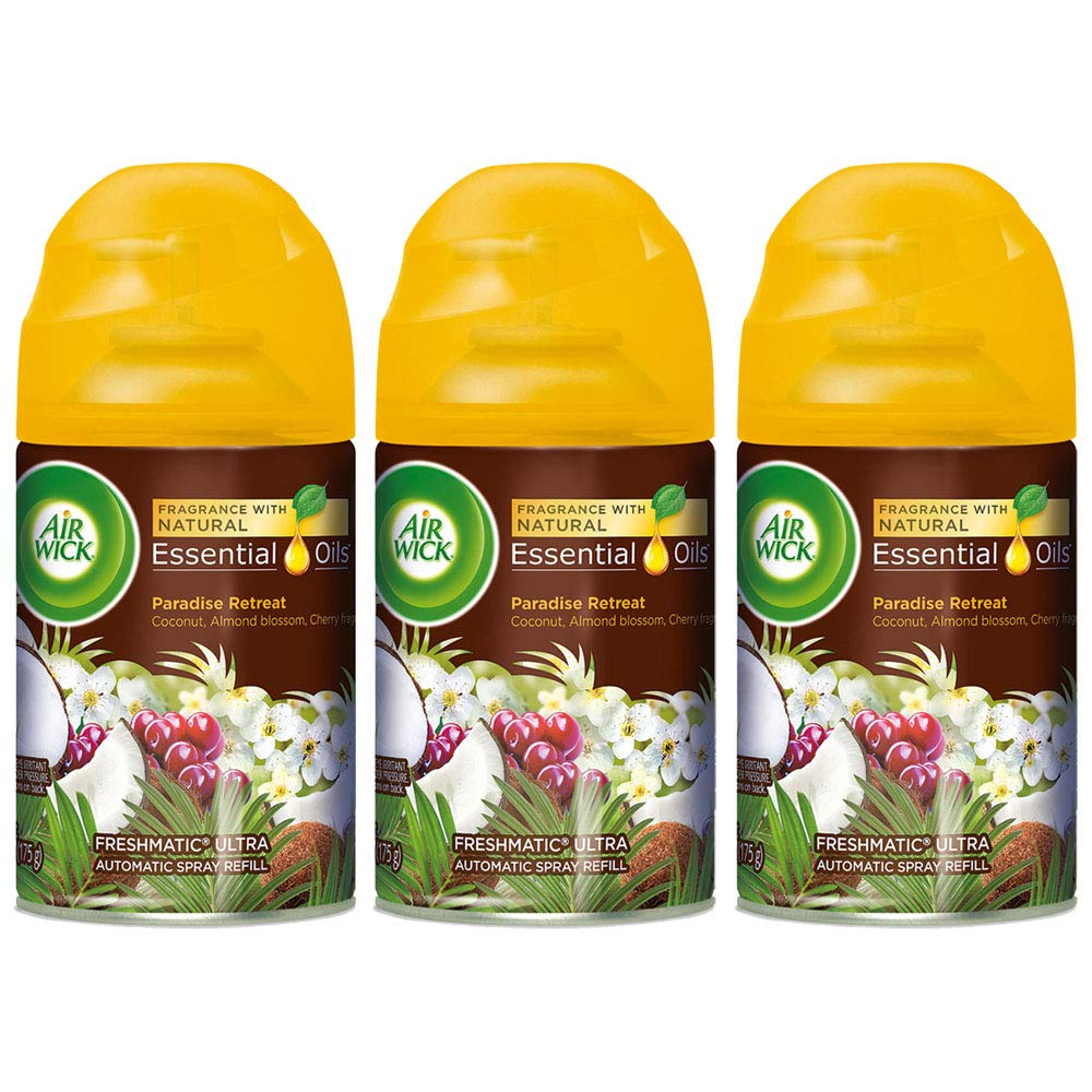 Air Wick Freshmatic Refill Automatic Spray, Paradise Retreat, 6.17 oz, Air Freshener (Pack of 3)
