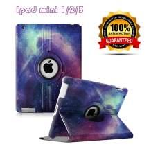 iPad Mini 1/2/3 Case - 360 Degree Rotating Stand Case Cover with Auto Sleep/Wake Feature for iPad Mini 1/iPad Mini 2/iPad Mini 3 (Galaxy)