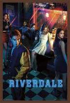 "Trends International Riverdale - Key Art, 22.375"" x 34"", Mahogany Framed Version"
