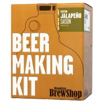Brooklyn Brew Shop Jalapeno Saison Beer Making Kit: All-Grain Starter Set With Reusable Glass Fermenter, Brew Equipment, Ingredients (Malted Barley, Hops, Yeast) Perfect For Brewing Craft Beer At Home