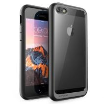 SUPCASE Unicorn Beetle Style Series Case for iPhone SE, Premium Hybrid Protective Clear Case Protector for Apple iPhone SE/iPhone 5S / iPhone 5 (Black)