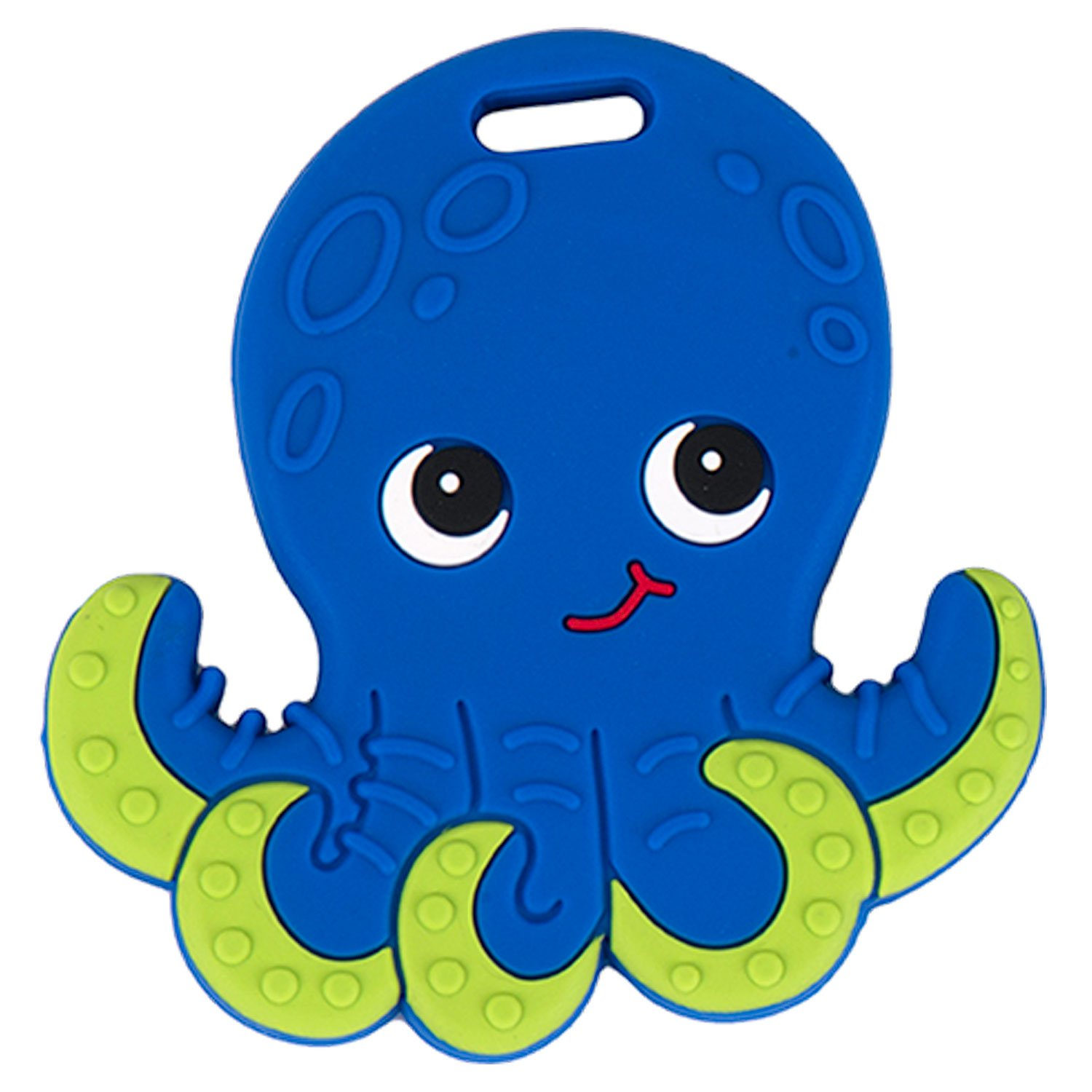 Silli Chews Baby Teethers Natural Silicone Teething Toy Blue Ollie Octopus Teether