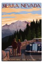 Lantern Press Sierra Nevada, The Mountains are Calling 48548 (6x9 Aluminum Wall Sign, Wall Decor Ready to Hang)