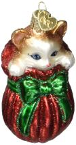 Old World Christmas Lover Collection Glass Blown Ornaments for Christmas Tree, Letting Cat Out