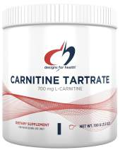 Designs for Health Carnitine Tartrate Powder - 700mg L-Carnitine (100 Servings / 100g)