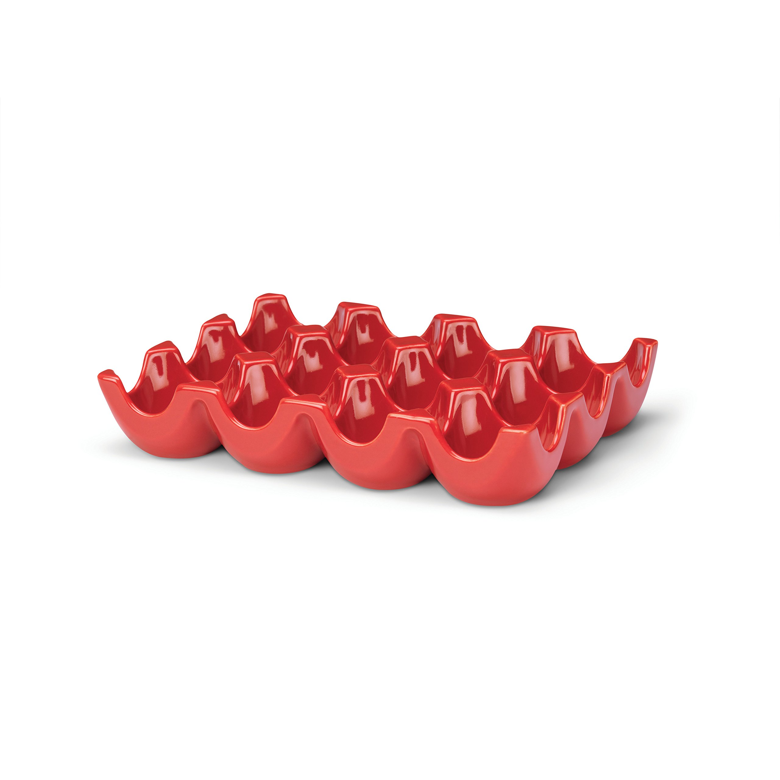 Rachael Ray 53106 Serveware Egg Tray, 12-Cup, Red