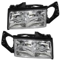 Aftermarket Replacement Driver and Passenger Set Halogen Headlights Compatible with 1997 1998 1999 DeVille 16526199 16526200