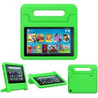 TiMOVO Case for Fire 7 Kids Case, Fire 7 Tablet Case, Lightweight Shockproof Convertible Handle Stand, Kids Case for All-New Fire 7 Tablet (9th Generation, 2019 Release) - Green