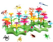 Lydaz Flowers Garden Building Toys, Girls STEM DIY Craft Toys - 109 PCS Kids Flower Educational Pretend Gardening Playset, Outdoor Toys for Toddlers 3 4 5 6 7 8 9 Year Old