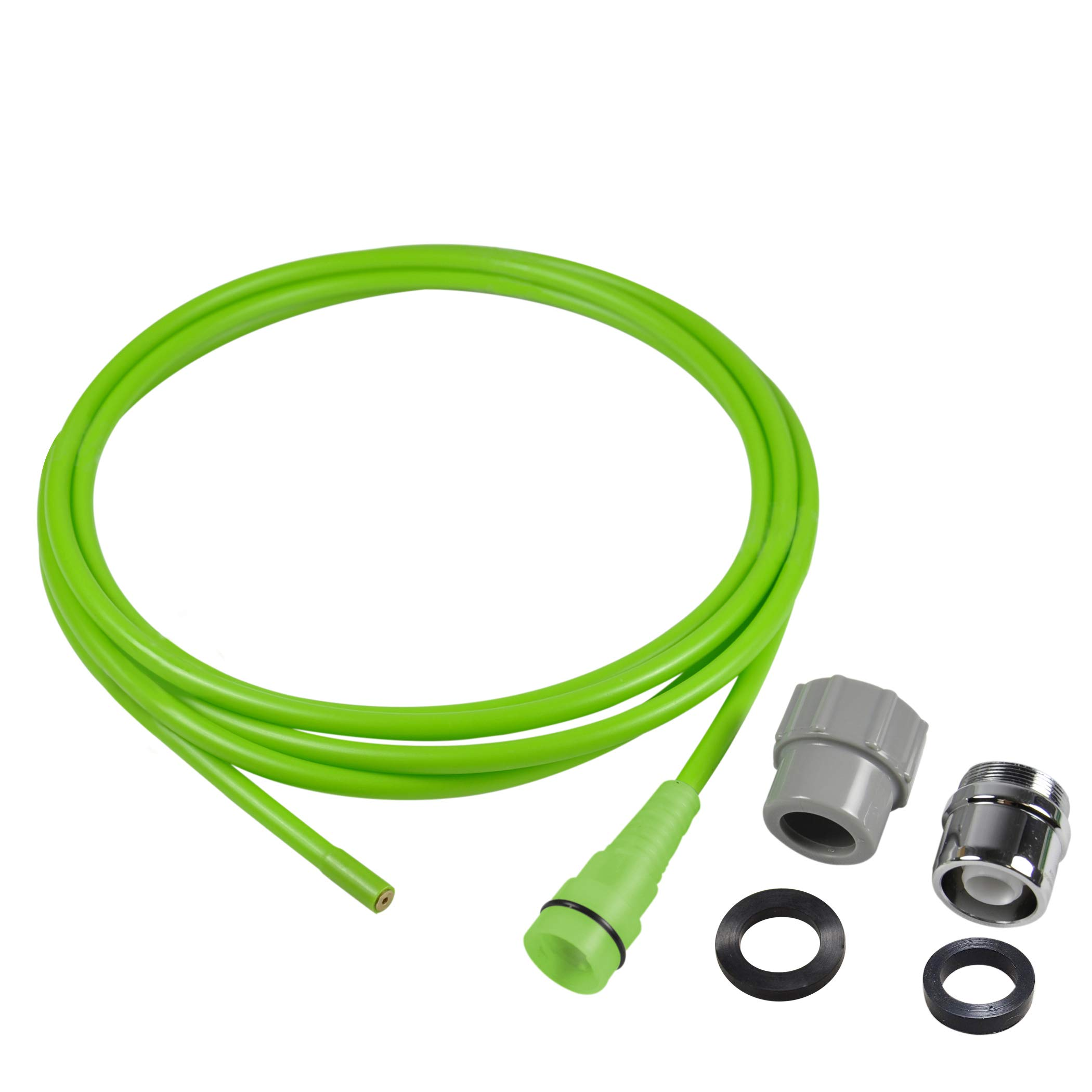Next By Danco 10881   Clear It Water Pressure Indoor/Outdoor Drain Opener & Cleaner   Drain Clog Remover   Drain Snake, Snare Drain Auger   Quick Connect to Sink Faucets & Garden Hose   10-Ft. Hose