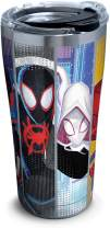 Tervis 1329809 Marvel Man Into The Spider-Verse Stainless Steel Insulated Tumbler with Clear and Black Hammer Lid, 20oz, Silver