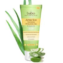 Babo Botanicals After Sun Soothing Hydrating Aloe Vera Gel With Natural witch Hazel and Cucumber, Vegan, For Babies, Kids or Sensitive Skin - 8 oz.
