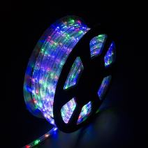 walsport 100ft LED Rope Lights Connectable Decorative Waterproof String Light for Indoor Outdoor Party Christmas Halloween Business, 110v 1080LEDs Color