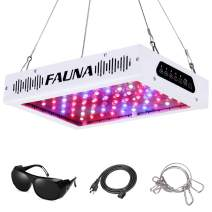 Timer Control 600W LED Grow Light Full Spectrum 12/15/18 Hours Auto On/Off with UV&IR Plant Light for Indoor Plants Veg and Flower (600W)