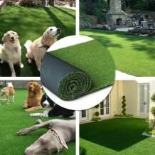 "· Petgrow · Artificial Synthetic Grass Turf 10FTX34FT(340Square FT),0.8"" Pile Height Indoor Outdoor Pet Dog Artificial Grass Mat Rug Carpet for Garden Backyard Balcony"