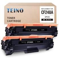 TEINO Compatible Toner Cartridge Replacement for HP 48A CF248A for HP Laserjet Pro MFP M29w M29a M29 M28w Laserjet Pro M15w M16 M16a M16w (Black, 2 Pack)
