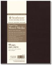 "Strathmore 481-307 Softcover Mixed Media Art Journal, 7.75""x9.75"", Toned Tan, 48 Pages"