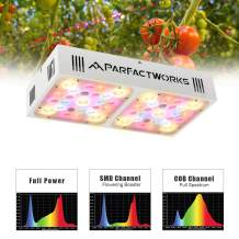 PARFACTWORKS 500W CREE COB LED Grow Light Full Spectrum for Growing Indoor Plants, Hydroponics, Microgreens in Grow Tents, Grow Cabinet, Greenhouse (500W)