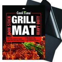 BBQ Grill Mats - NonStick Heavy Duty 600 Degree 2X Thicker Barbecue Grill Sheets Cooking Mat,Reusable Easy to Clean Grilling Accessories,Set of 2,Work on All Outdoor/Gas Grill,15.75 x 13Inches