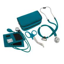 """ASATechmed Nurse/EMT Starter Pack Stethoscope, Blood Pressure Monitor and Free Trauma 7.5"""" EMT Shear Ideal Gift for Nurse, EMT, Medical Students, Firefighter, Police and Personal Use"""