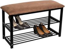 Sorbus Shoe Rack Bench – Shoes Racks Organizer – Perfect Bench Seat Storage for Hallway Entryway, Mudroom, Closet, Bedroom, etc (Brown)