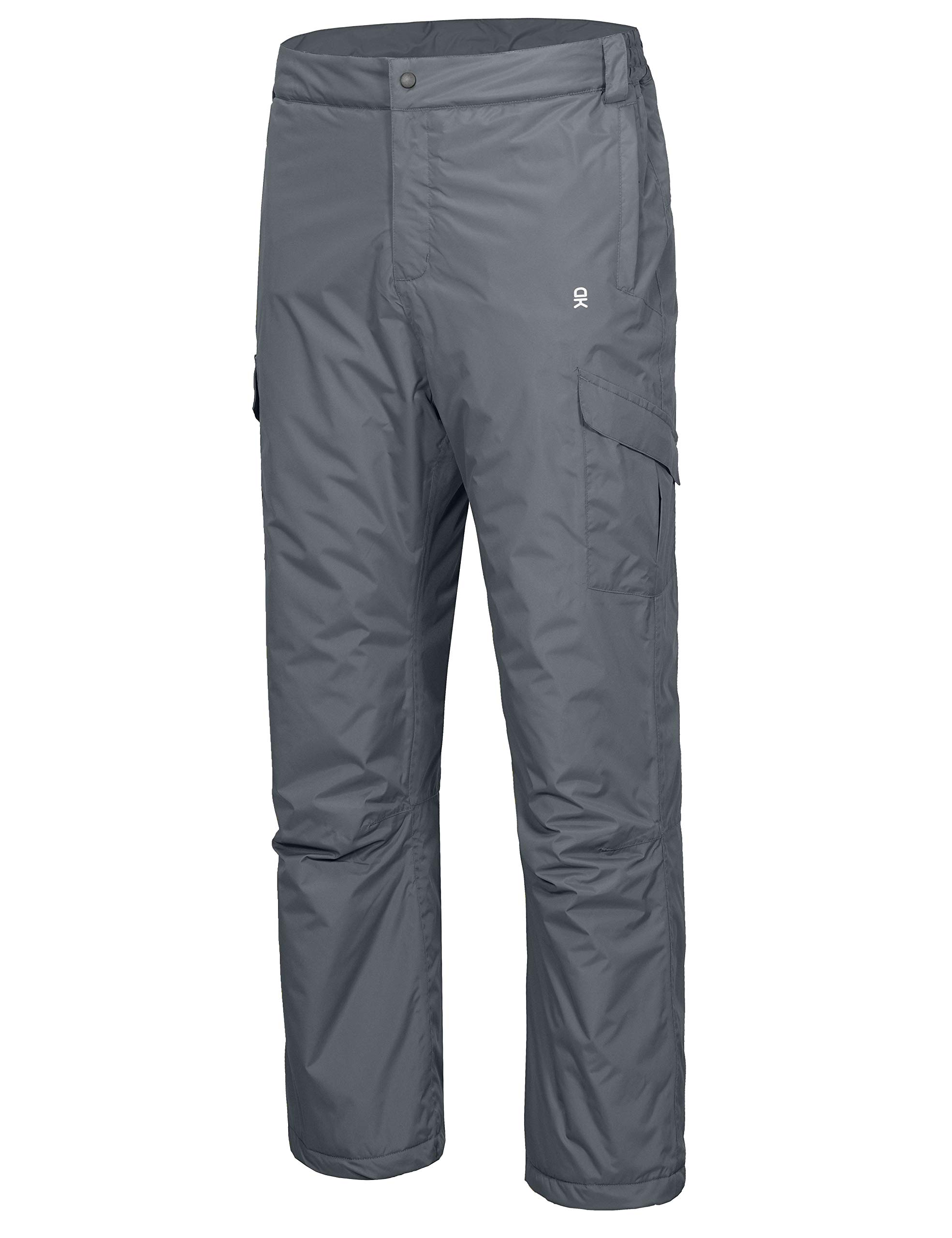 Little Donkey Andy Mens Waterproof Ski Snow Pants Warm Winter Snowboarding Outdoor Pants Black L