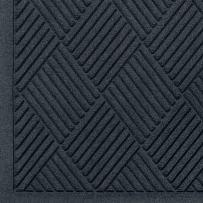 "M+A Matting 221 Waterhog Fashion Diamond Polypropylene Fiber Entrance Indoor Floor Mat, SBR Rubber Backing, 12.2' Length x 3' Width, 1/4"" Thick, Charcoal"