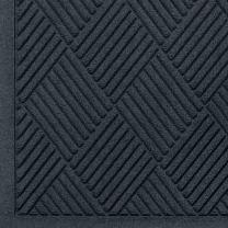 "M+A Matting 221 Waterhog Fashion Diamond Polypropylene Fiber Entrance Indoor Floor Mat, SBR Rubber Backing, 8.4' Length x 3' Width, 1/4"" Thick, Charcoal"
