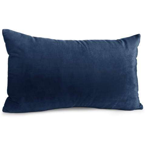 """Nestl Bedding Throw Pillow Cover 12"""" x 20"""" Soft Square Decorative Throw Pillow Covers Cozy Velvet Cushion Case for Sofa Couch Bedroom - Navy Blue"""