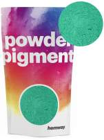 Hemway Pigment Powder Colour Luxury Ultra-Sparkle Dye Metallic Pigments for Epoxy Resin, Polyurethane Paint (Metallic Jade Green, 50g / 1.75oz)