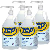 Zep Instant Hand Sanitizer Gel 70% Alcohol (1 Gallon Case of 4) - Made in the USA - Backed by the Good Housekeeping Seal (ZUIHSG128P)