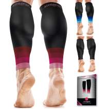 Calf Compression Sleeves for Men & Women - Shin Splint and Calf Support Brace - Compression Calf Guards - Leg Sleeves for Torn Muscle Cramps