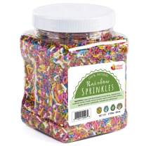 Natural Rainbow Sprinkles - No Artificial Dyes - 100% Natural, Gluten Free, Vegan, Lactose Free, Bulk - 1.5 Pounds