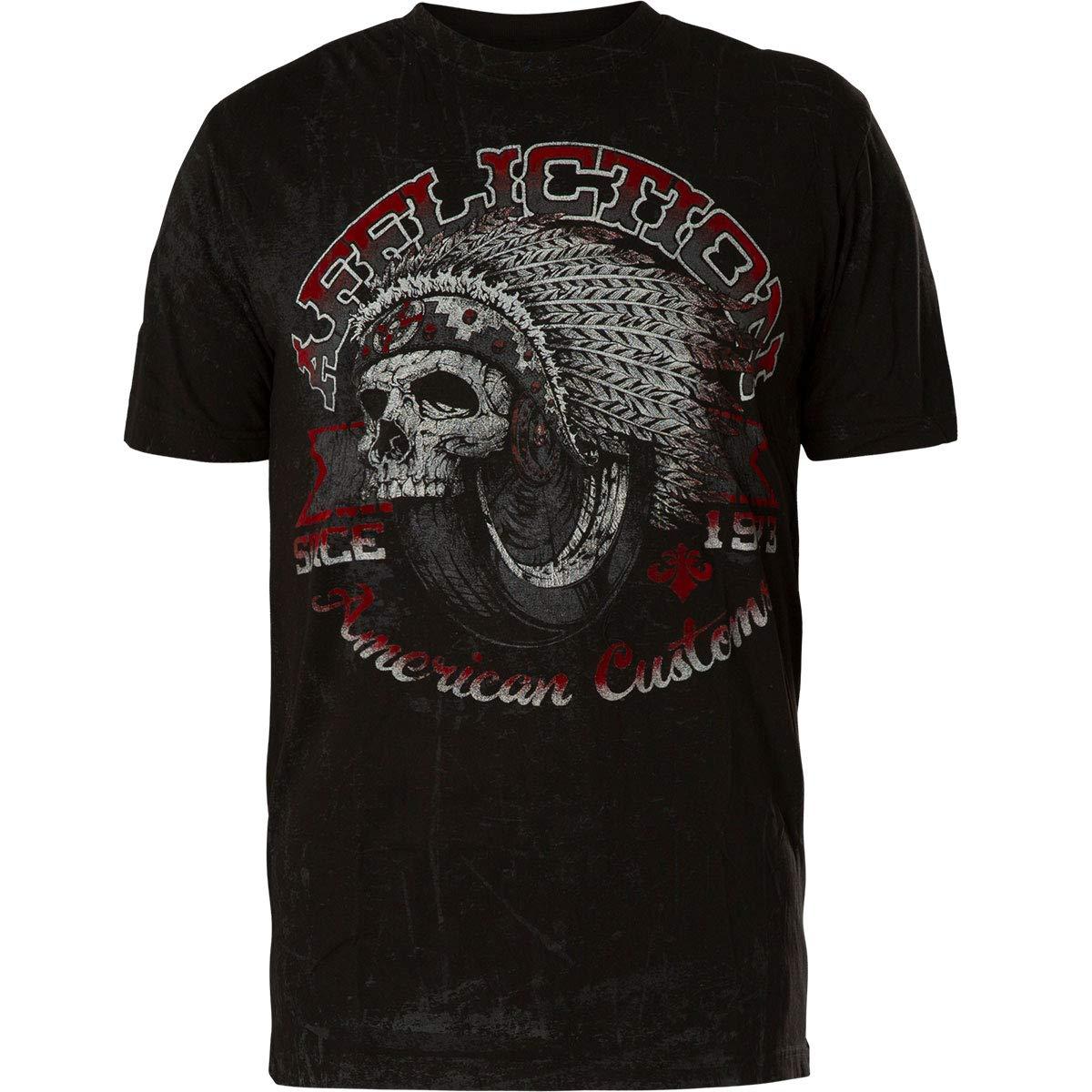 Affliction Men's Graphic T-Shirt, Bull Run Variant, Short Sleeve Crew Neck Shirt