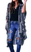 Finoceans Women Floral Kimono Cardigan Chiffon Cover Up Loose Blouse Tops