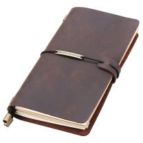 """Leather Writing Journal Notebook Refillable, Handmade Travelers Notebook for Men & Women, Perfect for Writing, Gifts, Travelers, Standard Size 8.5"""" x 4.5"""" Inches - Coffee"""