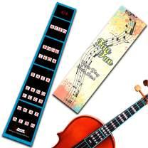 FineFun Violin Finger Guide /Fingerboard Sticker guide Label Finger Chart For Size 4/4,3/4 ,2/1,4/1,8/1,10/1 (4/4)