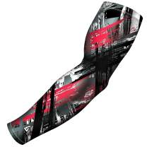 B-Driven Sports Pro-Fit Athletic Sports Arm Sleeve 40+ Designs, Youth and Adult Size, Men and Women
