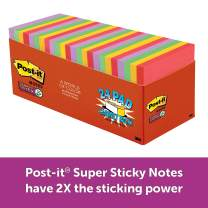 Post-it Super Sticky Notes, Primary Rainbow Colors, Tray Pack, Standard Size, 3 in x 3 in
