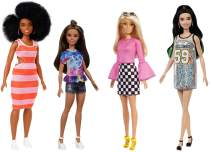 Barbie Fashionistas Doll Pack with 4 Barbie Dolls for 3 to 8 Year Olds