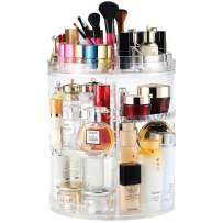 Rotating Makeup Organizer, Boxalls 360 Degree Crystal Adjustable Jewelry Cosmetic Perfumes Display Stand Box, 380 x 260 MM 8 Layers Great Capacity Make Up Storage For Dresser, Bedroom, Bathroom