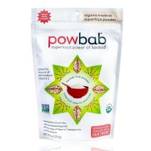 powbab Organic Baobab Powder Supplement for Raw Antioxidant Energy Immune Boost. Premium Fair Trade Organic Fruit Powder with Vitamins C, Fiber, Electrolytes for Smoothies + Juice, 39 servings. 6 oz