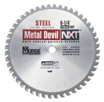 MK Morse CSM82548NSC Metal Devil NXT Circular Saw Blade, 8-1/4-Inch Diameter, 48 Teeth, 5/8-Inch Knock-out Arbor, for Steel Cutting