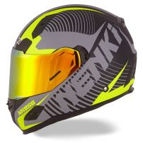 NENKI NK-856 Full Face Motorcycle Helmets DOT Approved with Iridium Red Visor and Inner Sun Shield Attached Outer Clear Visor
