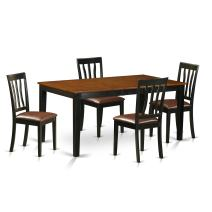 5 PC Kitchen Table set-Dining Table and 4 Wood Kitchen Chairs