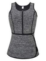 KINJOHI Women Waist Trainer Corset Trimmer Belt Body Shaper Slimming with Zipper S-7XL