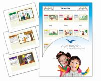Yo-Yee Flashcards - Months of The Year Flash Cards - English Vocabulary Picture Cards for Toddlers, Kids, Children and Adults